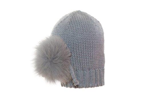 Catya Catya Hat With Pom Pom Front Grey