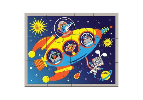 Mudpuppy Bertoy Pouch Puzzles Outer Space 12 Stuks