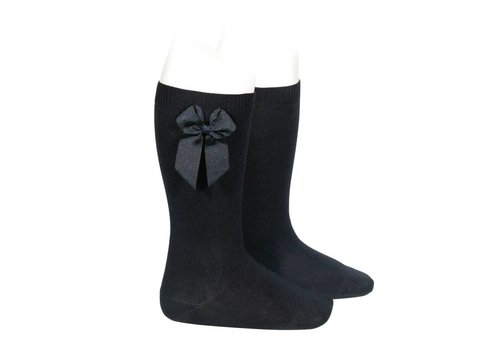 Condor Condor Knee Socks With Bow Black