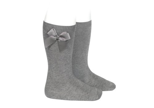 Condor Condor Knee Socks With Bow Grey