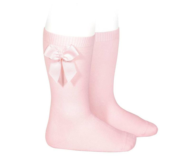 Condor Knee Socks With Bow Pink