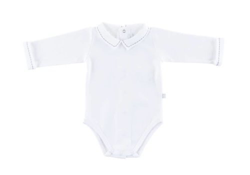 Theophile & Patachou Theophile & Patachou Bodysuit Polo Shirt Collar White - Grey