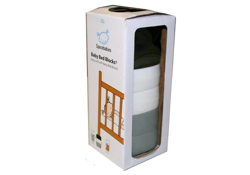 Spacebabies Babybed Blocks Zwart - Wit - Grijs