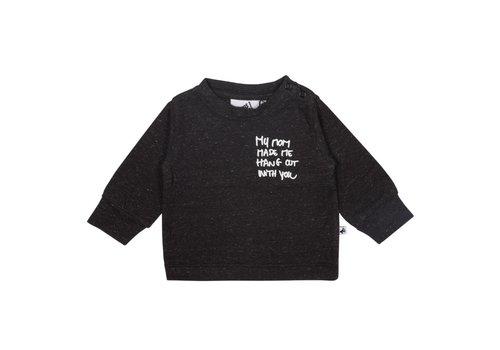 Cos I Said So Cos I Said So T-Shirt Lange Mouwen Melange My Mom Made Me Hang Out Zwart