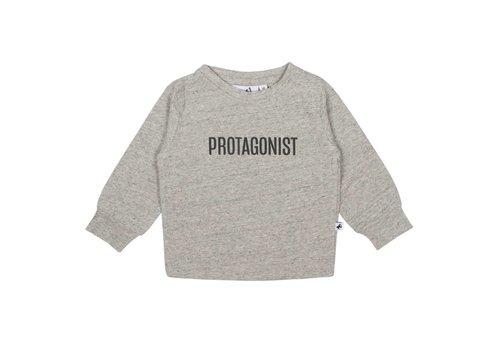 Cos I Said So Cos I Said So T-Shirt Lange Mouwen Melange Protagonist Grijs