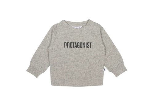 Cos I Said So Cos I Said So T-Shirt Long Sleeves Melange Protagonist Grey
