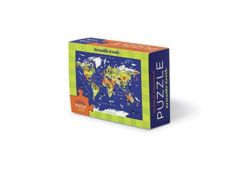 Crocodile Creek Bertoy Matchbox Puzzle - World Map