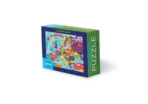 Crocodile Creek Bertoy Matchbox Puzzle - Europe