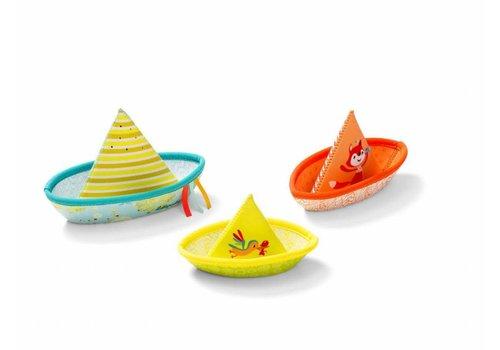Lilliputiens Lilliputiens Badspeelgoed Drie Drijvende Bootjes