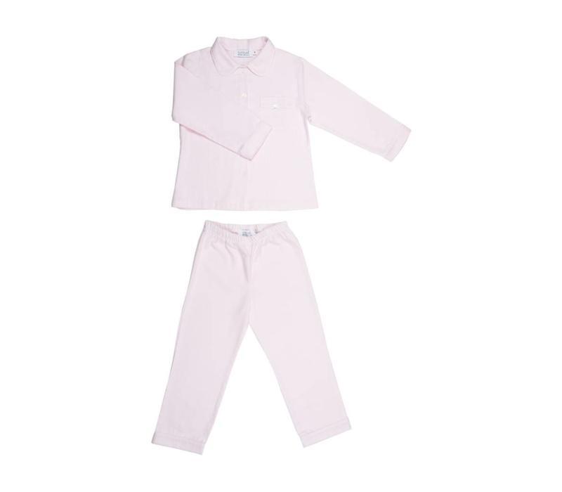 Cotolini Pyjama Luisa Flanelle Gestreept Roze