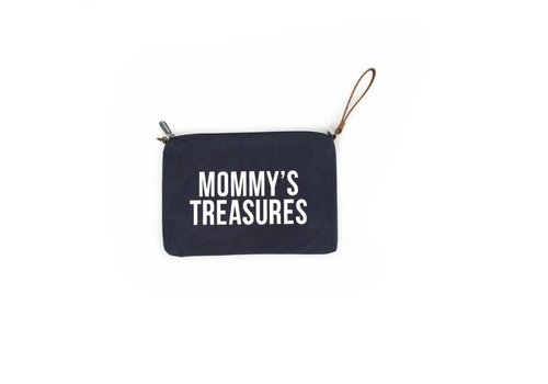 Childhome Childhome Mommy Clutch Toilettas Navy - Wit