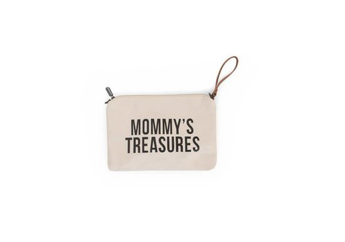 Childhome Childhome Mommy Clutch Toilettas Ecru - Zwart