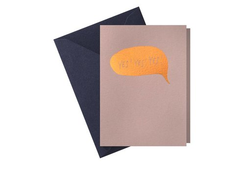 Papette Papette Greeting Card 'Yes Yes Yes'
