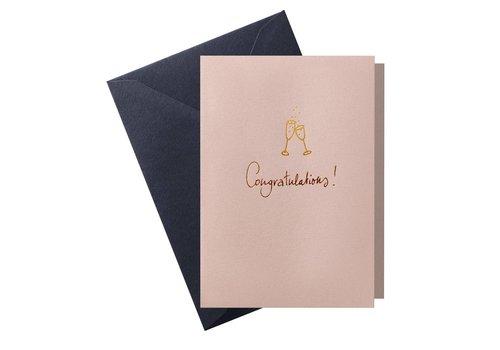 Papette Papette Wenskaart 'Congratulations'