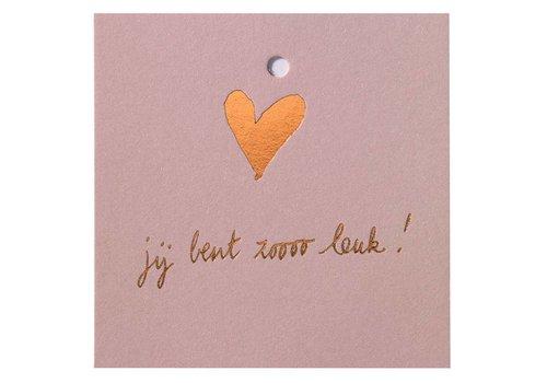 Papette Papette Minikaartje 'Je Bent Zoo Leuk'