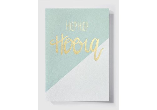 Papette Papette Greeting Card 'Hiep Hiep Hoera'