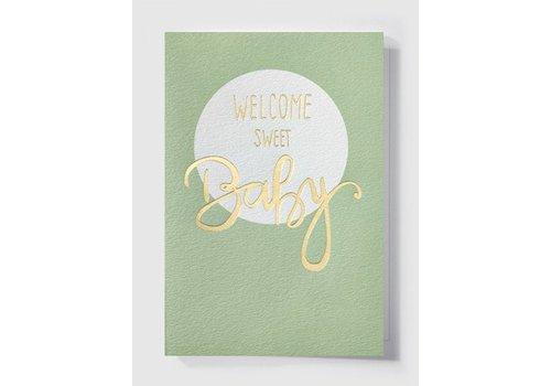 Papette Papette Wenskaart 'Welcome Sweet Baby'