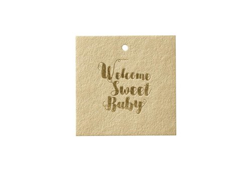 Papette Papette Cadeaukaartje 'Welcome Sweet Baby'