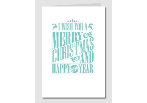Papette Papette Christmas Card 'Merry Christmas - Happy New Year' Mint