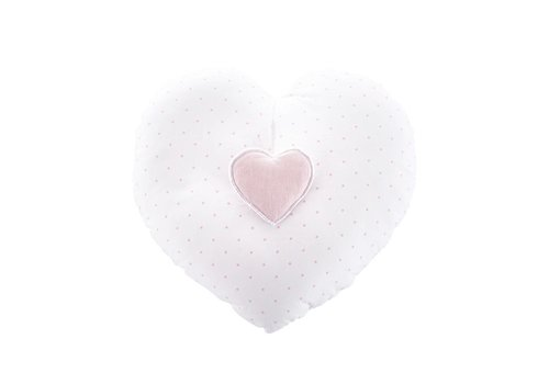 "Theophile & Patachou Theophile & Patachou Music Pillow ""Hart"" Blush Pink"