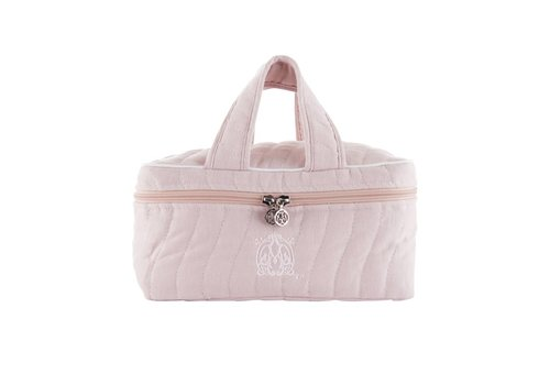 Theophile & Patachou Theophile & Patachou Toilet Bag With 2 Handleten - Quilted Blush Pink