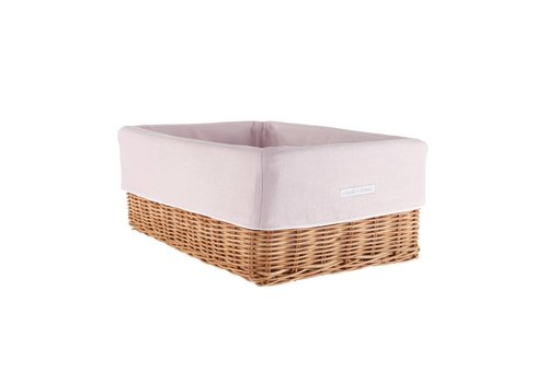 Theophile & Patachou Theophile & Patachou Wicker Basket + Cover Linen Blush Pink