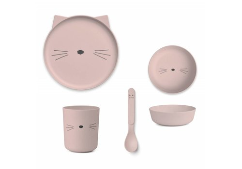 Liewood Liewood Dining Bamboo Cat Rose