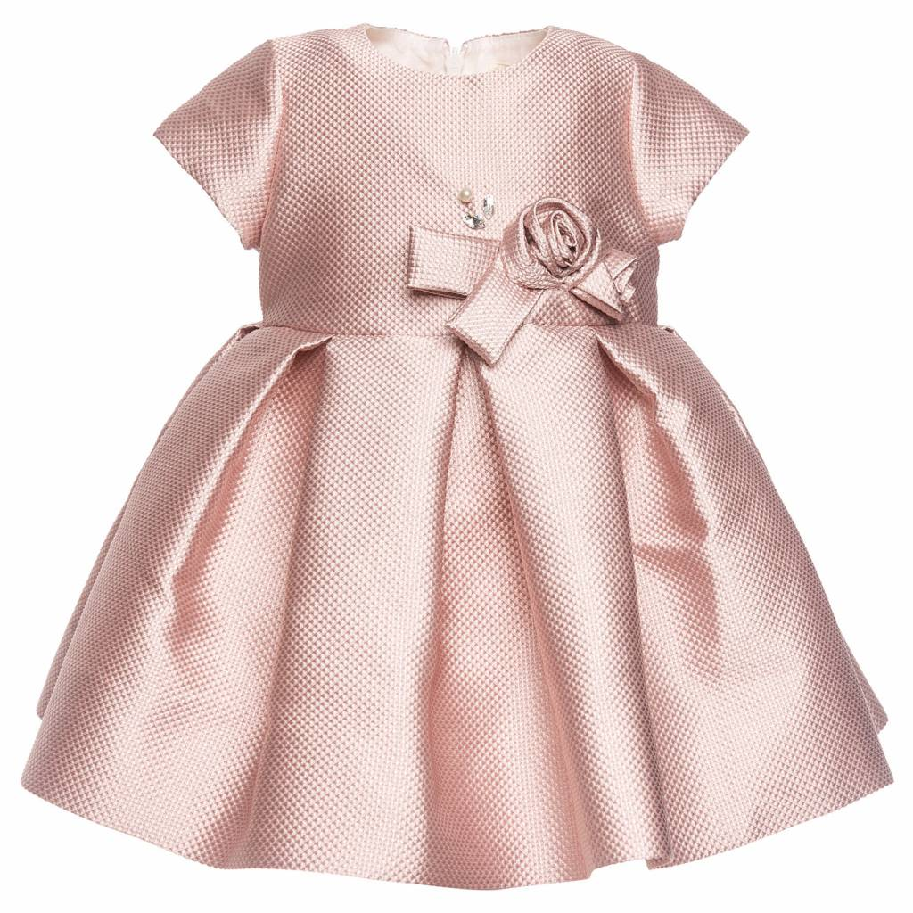 Monnalisa Kinderkleding.Monnalisa Dress Jaquard Glitter Jules Juliette