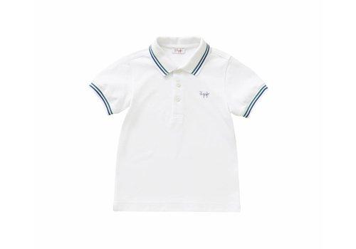 Il Gufo Il Gufo Polo Shirt Shirt White - Blue / Green Stripes