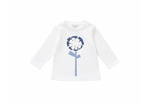 Il Gufo Il Gufo T-Shirt Flower Blue