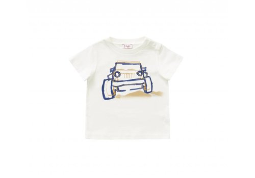 Il Gufo Il Gufo T-Shirt Car Milk - Denim