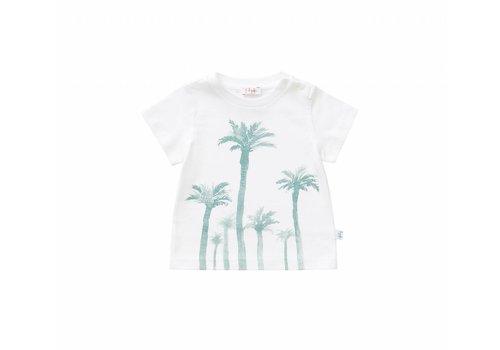 Il Gufo Il Gufo T-Shirt White - Sage Green Palm Tree