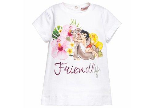 Monnalisa Monnalisa T-Shirt Jungle Book Wit