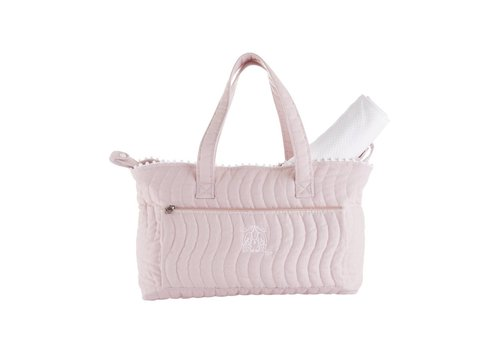 Theophile & Patachou Theophile & Patachou Nursery Bag + Changing Pad - Quilted Blush Pink