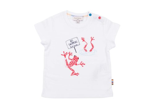 Paul Smith Paul Smith T-Shirt Wit 'No Swimming'