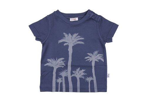 Il Gufo Il Gufo T-Shirt Palm Tree Blue