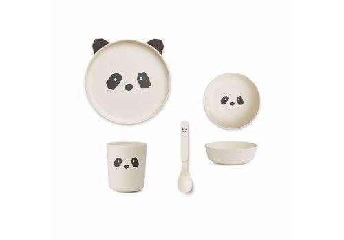 Liewood Liewood Tableware Set Bamboo Panda Creme De La Creme
