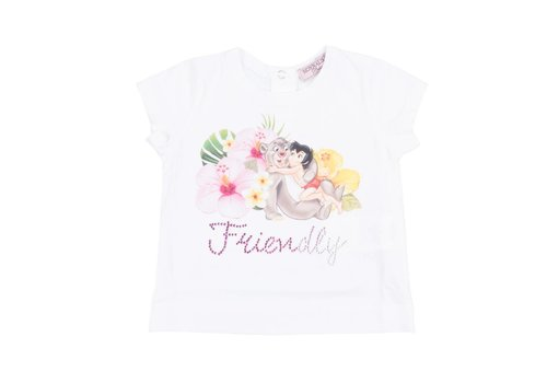 Monnalisa Monnalisa T-Shirt White 'Friendly'