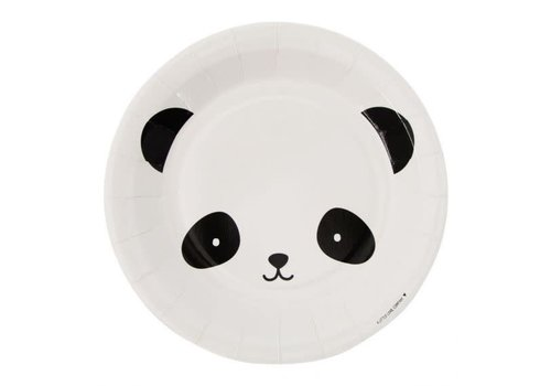 A Little Lovely Company A Little Lovely Company Papieren Bordjes Panda 12 Stuks
