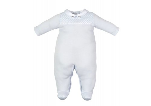 Laranjinha Laranjinha Pyjamas With Feet Squares Blue