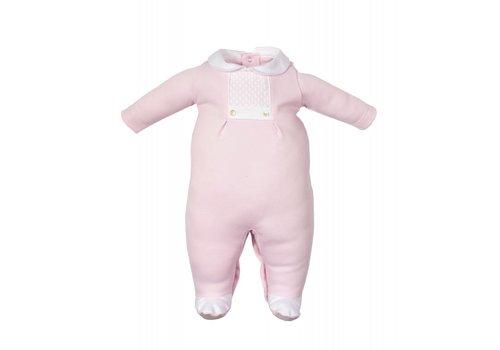 Laranjinha Laranjinha Pyjamas With Feet Pink - White