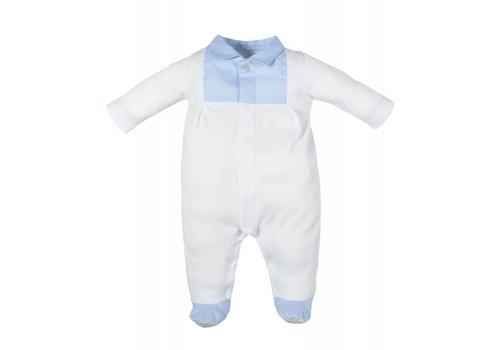Laranjinha Laranjinha Pyjama Met Voetjes Wit - Classic Blauw