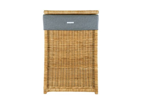 Theophile & Patachou Theophile & Patachou Natural Wicker Basket And Cover + Cover Jersey Anthracite