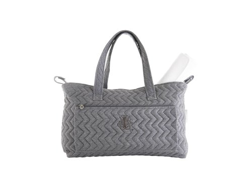 Theophile & Patachou Theophile & Patachou Nursery Bag + Changing Pad - Quilted Anthracite