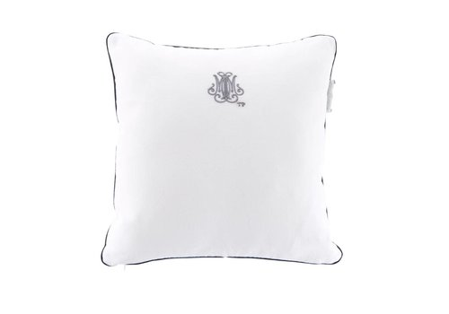 Theophile & Patachou Theophile & Patachou Pillow Embroidered - Linen White