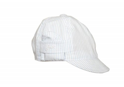 My First Collection First Cap Striped White - Sky