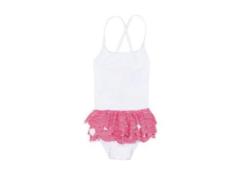 Streghe In A Bikini Streghe In A Bikini Swimsuit White - Red Stripes