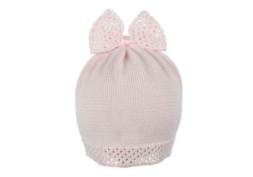 Il Trenino Il Trenino Hat With Bow Pink