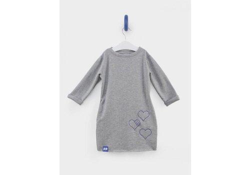 From Paris From Paris Sweatershirt Dress Grey - Blue