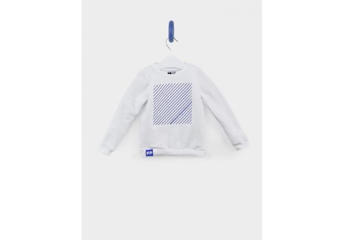 From Paris From Paris Sweatshirt Wit - Blauw